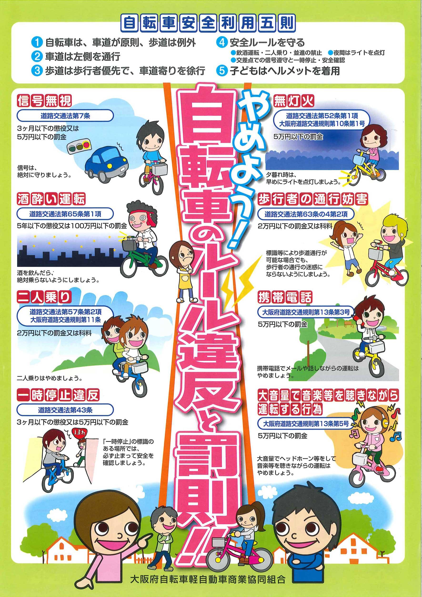 自転車安全利用5則