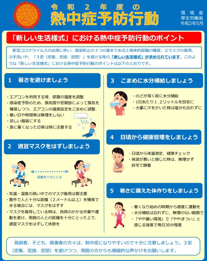 《 新しい生活様式 》における熱中症予防