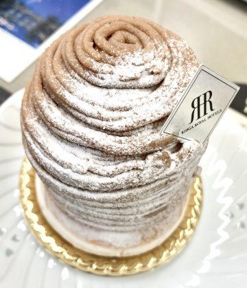 粉砂糖がまるで雪山のようです。