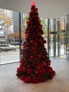 真っ赤なクリスマスツリー!!